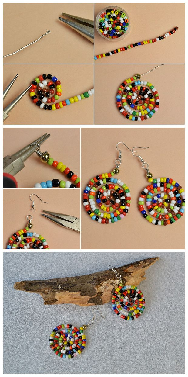 0628ddb0d9a0  Beebeecraft tutorials on how to make  colorful  seedbeads  earrings Bisuteria  Chile