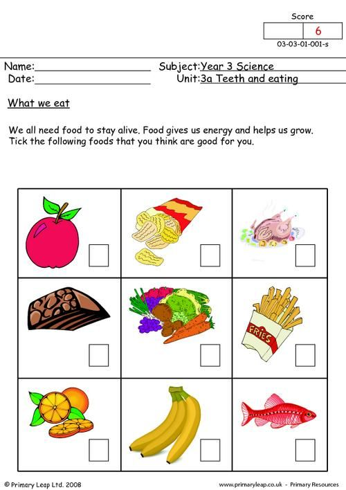 Worksheets On Healthy Eating With Images Healthy And Unhealthy