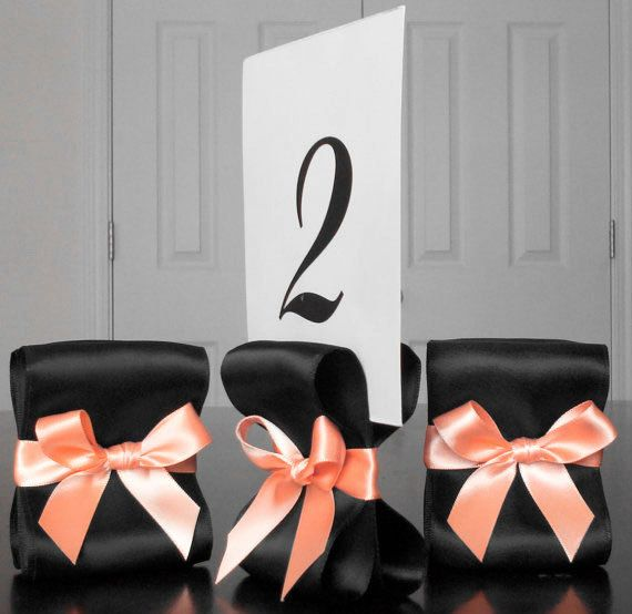 Table Number Holders  Set of Ten 10 with Black by ReservedSeating, $35.00