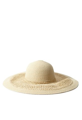 ae5373ca933 Wide-Brim Straw Floppy Hat