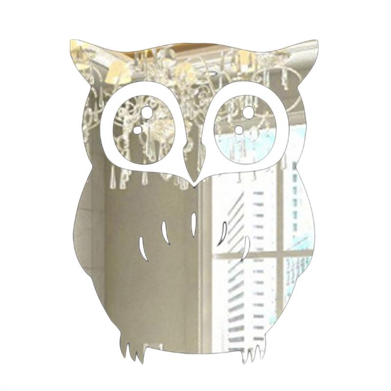 3d wall sticker owl mirror stickers for home living room on wall stickers for living room id=38529
