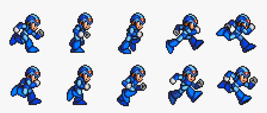 Exemplo De Spritesheet Sprite Sheet Megaman Png Transparent Png Is Free Transparent Png Image Download And Use It For Your Personal Or Sprite Png Animation