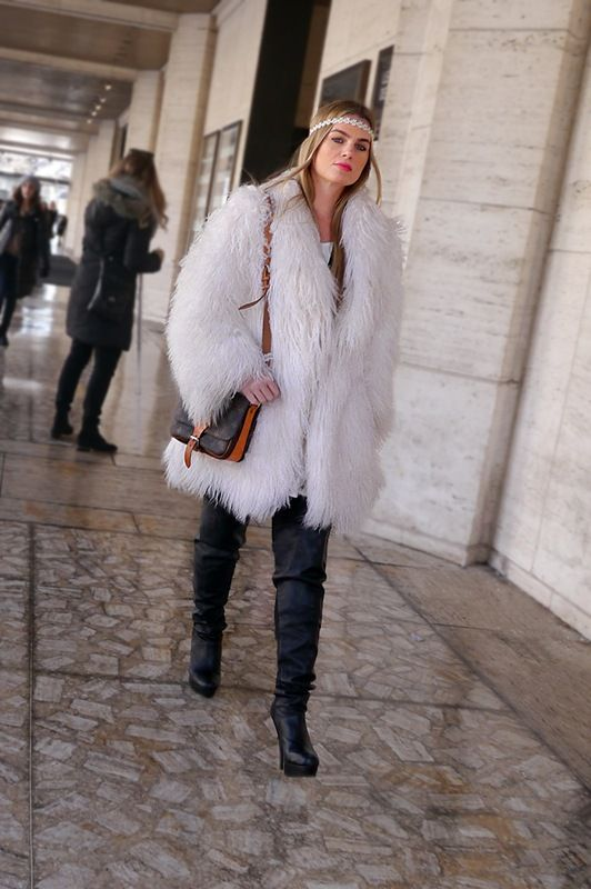 fur moment in NYC.