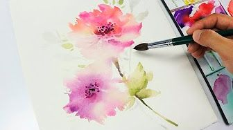 Lvl2 Painting Easy Simple Flowers Watercolor Painting For