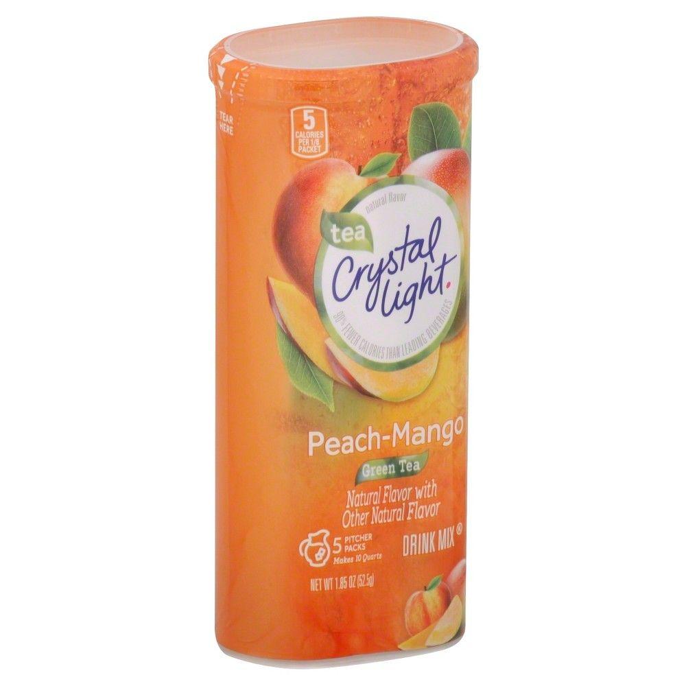 Crystal Light Peach Mango Green Tea Drink Mix 5 Ct Green Tea Drinks Mango Green Tea Peach Ice Tea