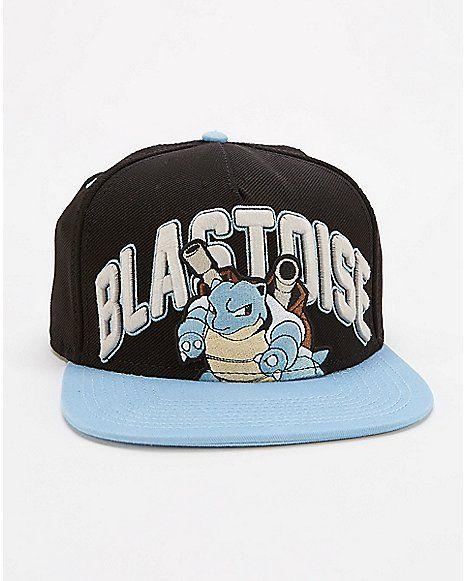 e6e89e0941c6fd Embroidered Blastoise Pokemon Snapback Hat - Spencer's | Cool ...