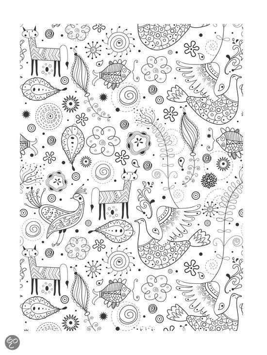 Grote Kleurplaten Voor Volwassenen.Kleurplaat Dieren Bloemen Kleurplaat Kleurboek