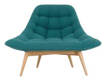Kolton stoel, mineraalblauw