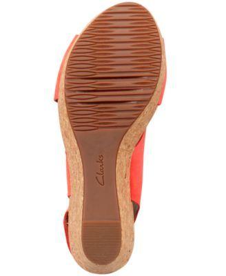 f952df9c64a6 Clarks Collections Women s Annadel Eirwyn Wedge Sandals - Tan Beige ...