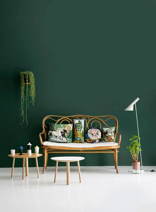 Forest Green Interior With White Floor Home Furnishings