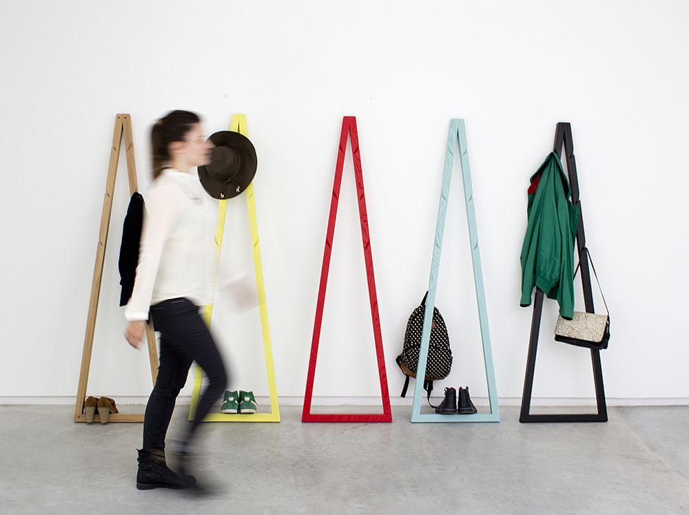 Coat Rack Design pendura coat stand: a new triple edge takes form | coats, design