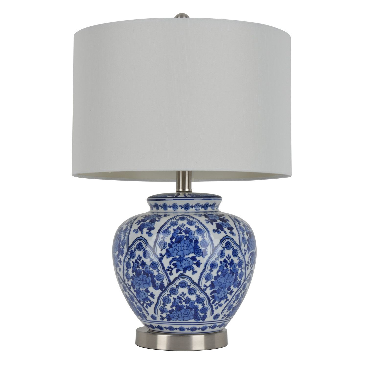J Hunt Home 20 H Table Lamp With Drum Shade Blue And White Lamp Decor Therapy Table Lamp