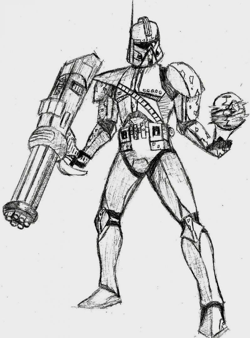 Star Wars Clone Trooper Coloring Pages | Coloring Pages | Pinterest ...
