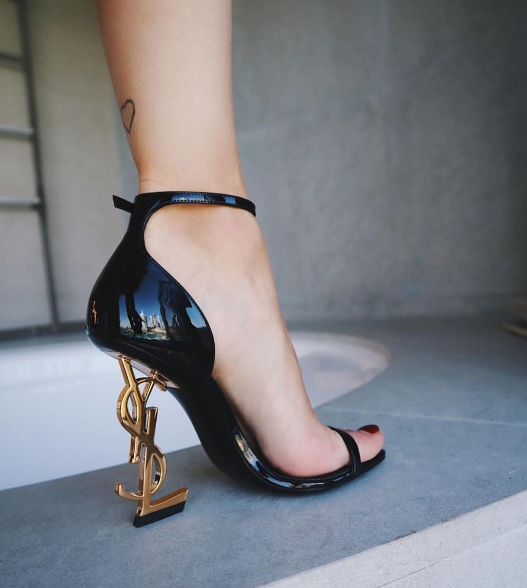ysl sparkly heels