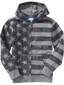 Boys Flag-Print Fleece Hoodies  87e504213
