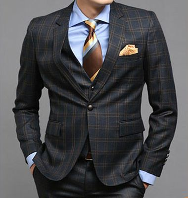 mens italian wedding suits navy plaid prom suits for men no.656 by ...