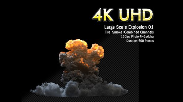 Massive Nuclear Explosion Slow Motion by KyleTerry Massive 4K 120fps