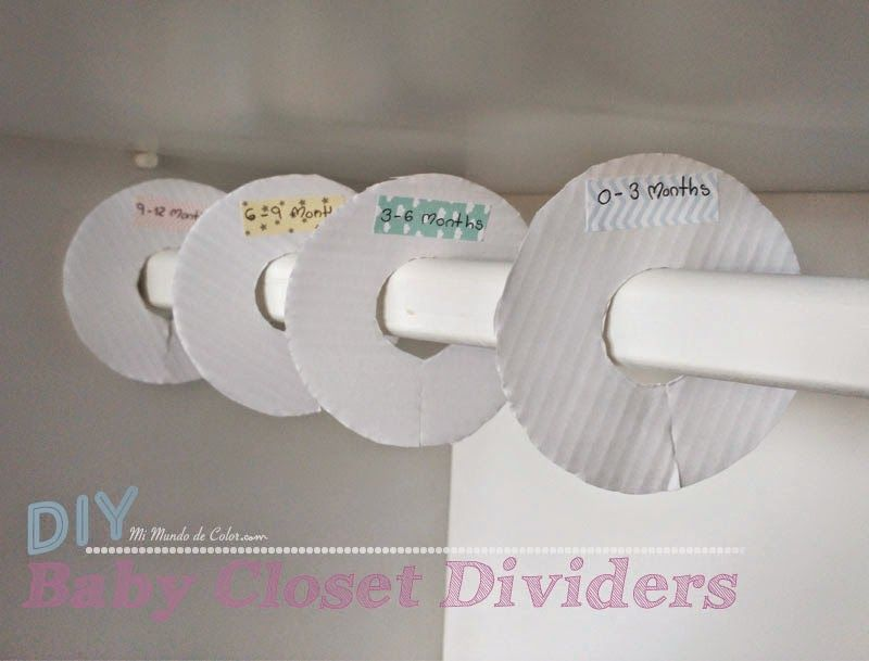 DIY Baby Closet Dividers, Baby Closet Dividers, DIY Baby Closet Separators,  DIY Separadores