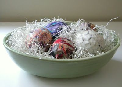 homework: creative inspiration for home and life: Inkling: paper mache eggs