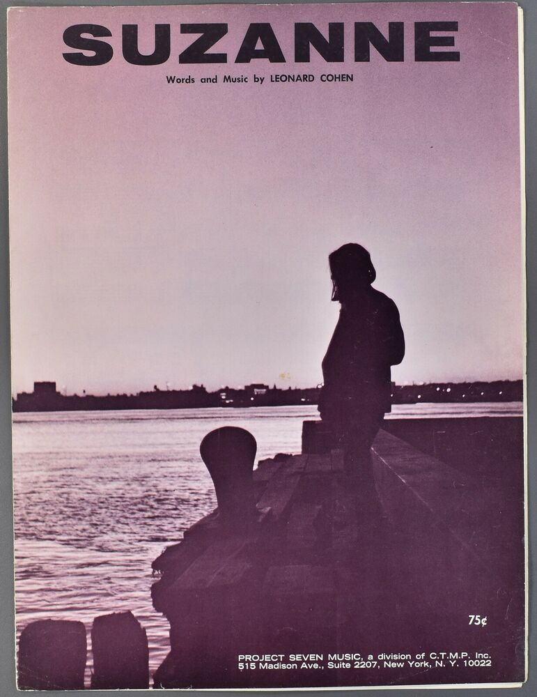 1966 LEONARD COHEN Sheet Music SUZANNE Piano Vocal Guitar #vintagesheetmusic 1966 LEONARD COHEN Sheet Music SUZANNE Piano Vocal Guitar #vintagesheetmusic