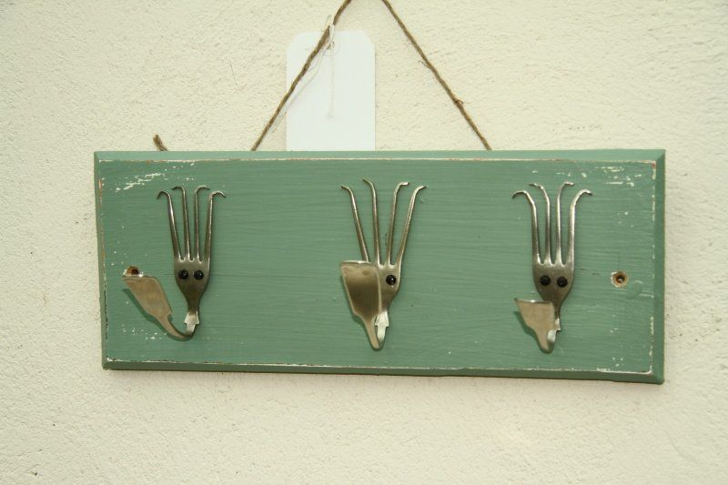 Shabby Chic Coat Hangers Made With Dining Forks Www