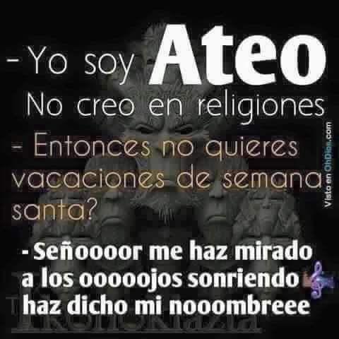 #meme #SemanaSanta #vacaciones #religión #Ateo