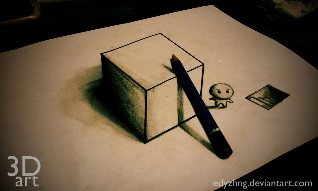 3d Drawing Art Box By Edyzhng On Deviantart Image Only