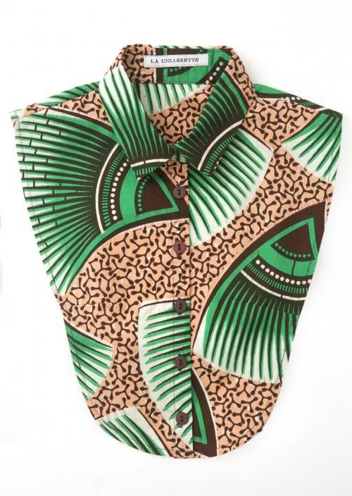 Green Vlisco Kraag | La Collerette