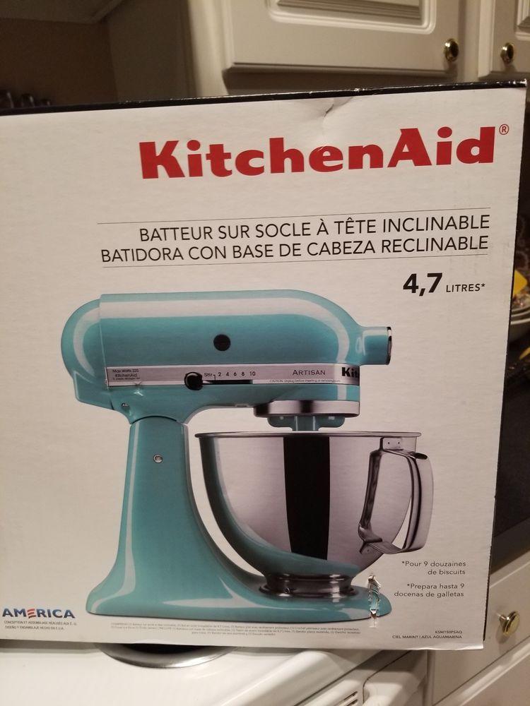 kitchenaid mini stand mixer aqua sky