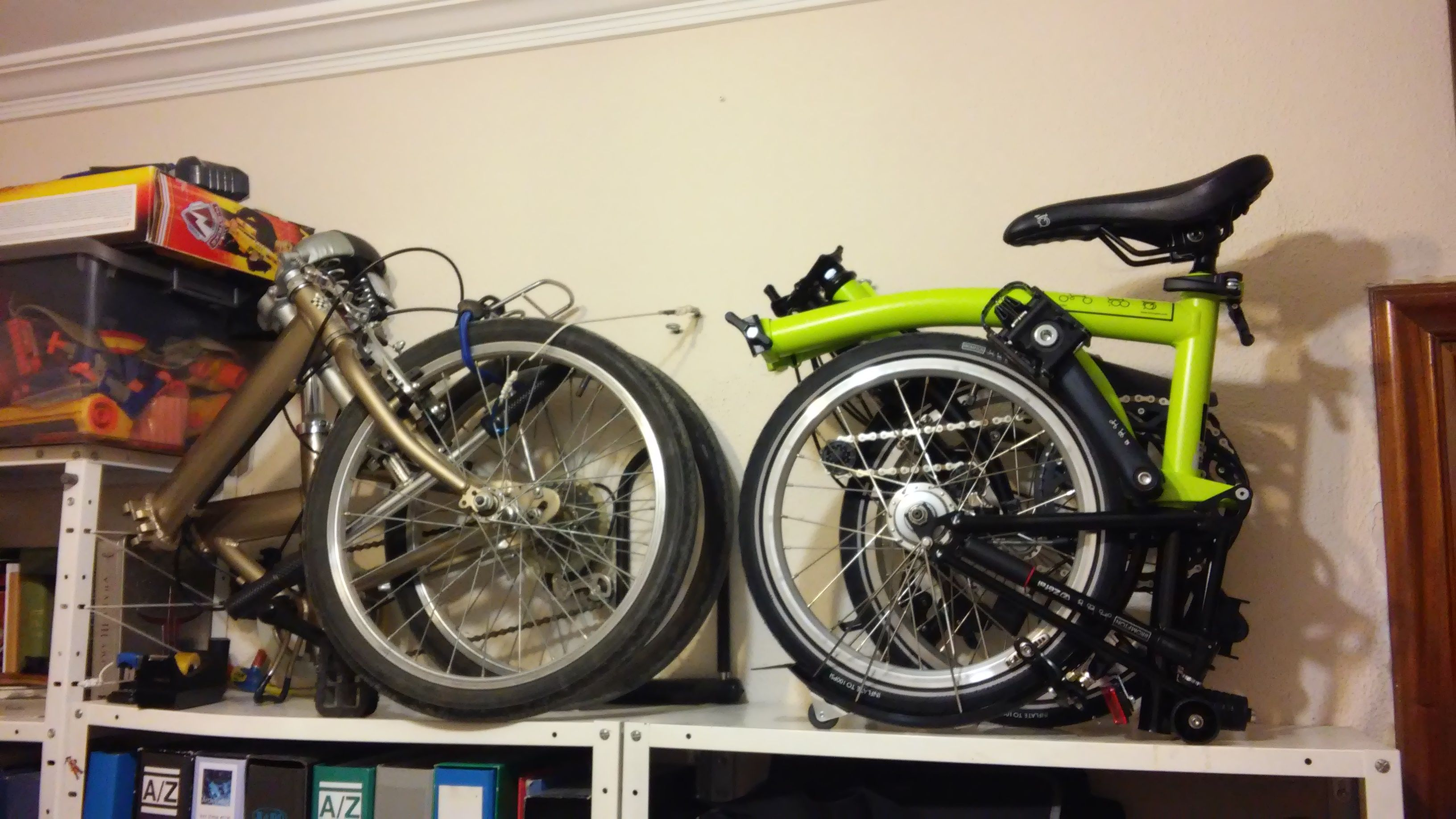 Brompton M6l Black Edition Lime Green Folded Size Comparison With