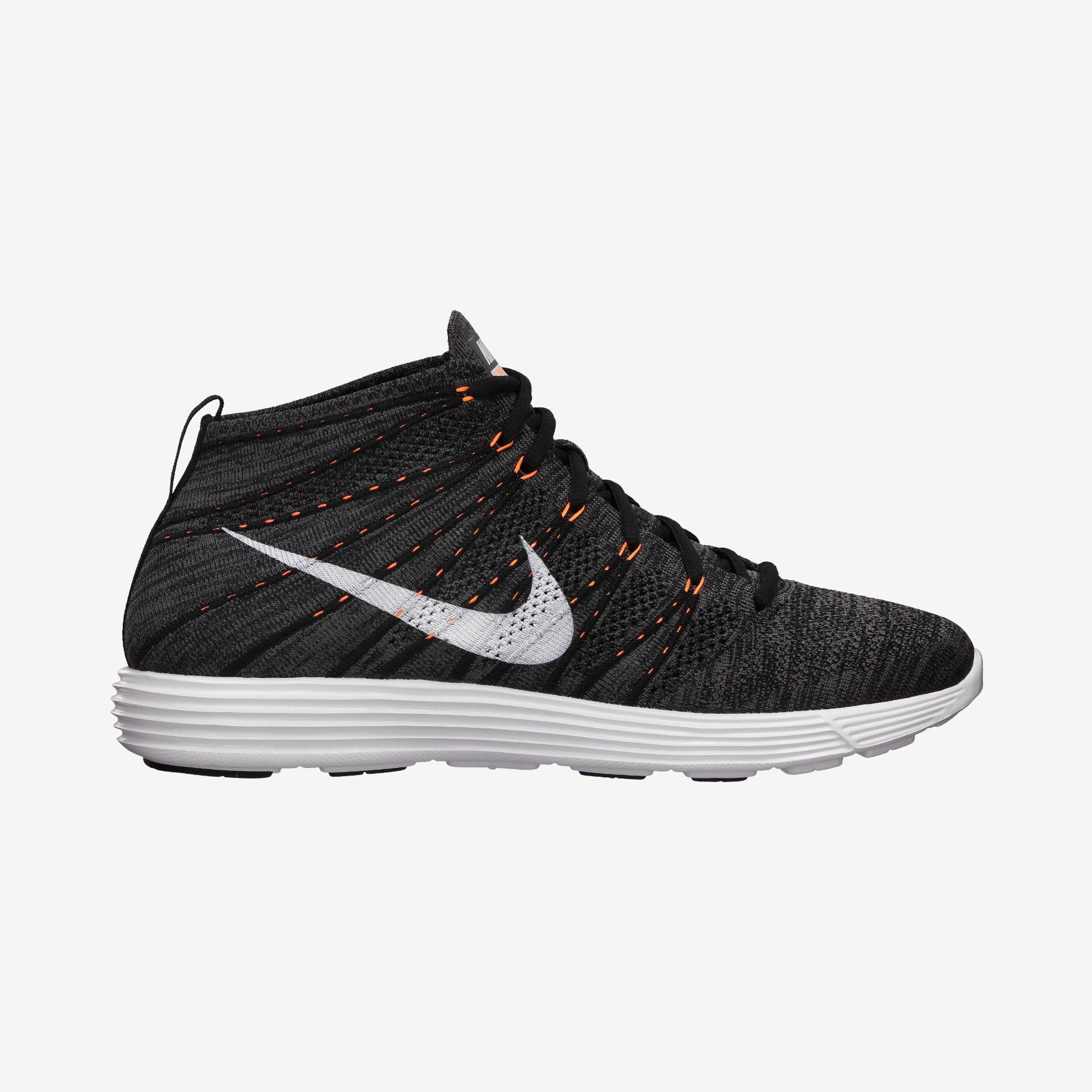 brand new 4ec33 21fab Nike Lunar Flyknit Chukka (Midnight FogWhite-Total Orange-White 554969-081)