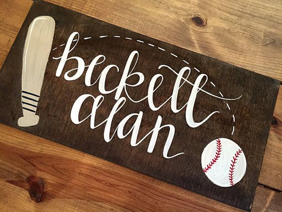 Vintage Baseball Nursery Wall Decor