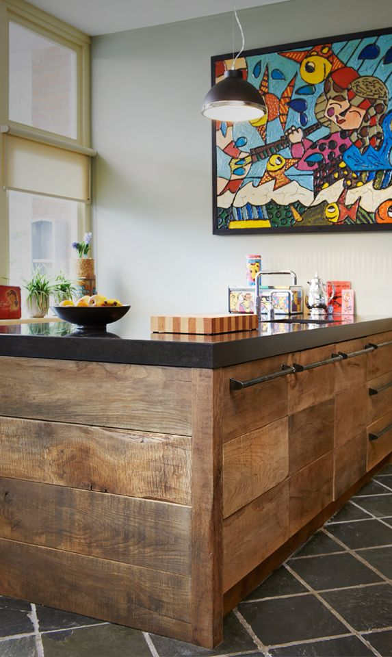 A beautiful wooden kitchen A great combination of rustic and modern
