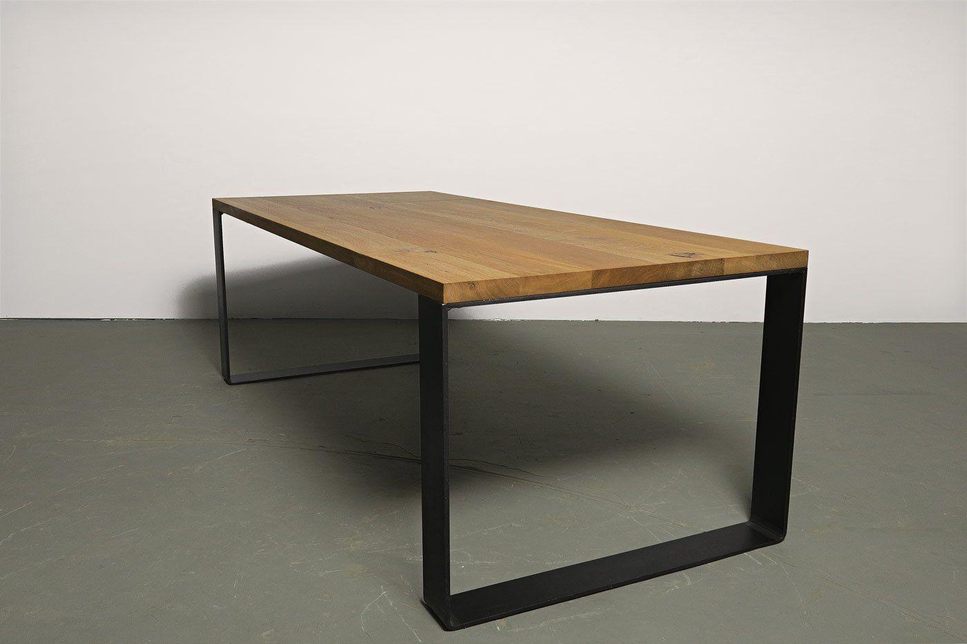 Kufenesstisch Moss 10 Eiche Massivholz Wohnsektion Massivholztisch Esstisch Tisch
