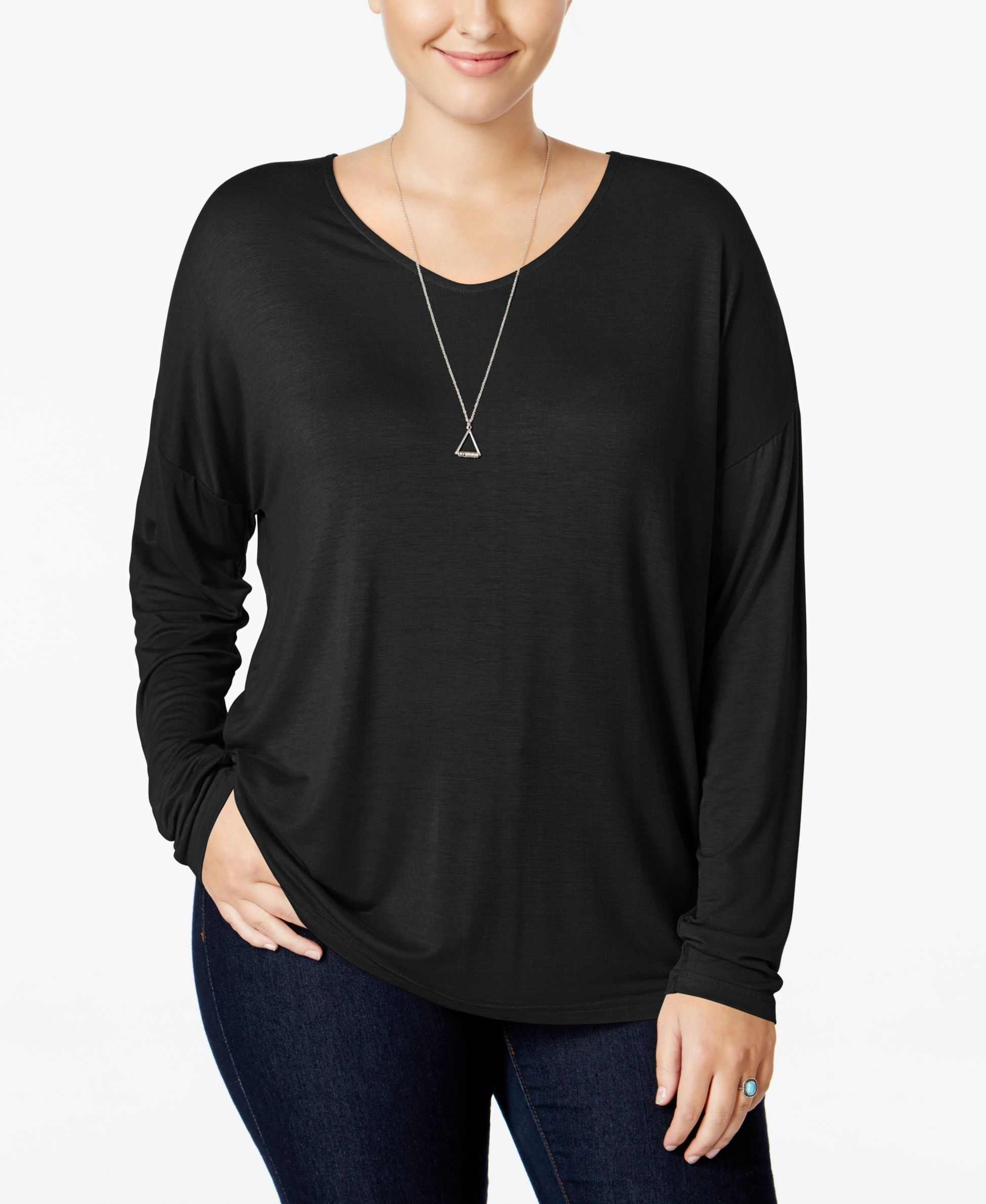 Extra Touch Trendy Plus Size Strappy-Back Top