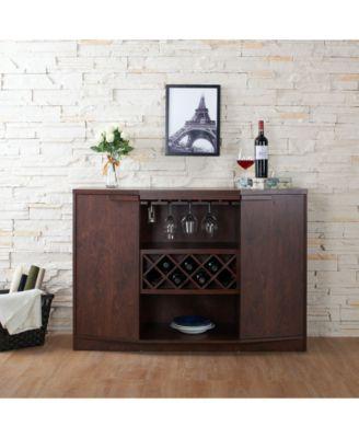Furniture Of America Bruno Wine Rack Buffet Reviews Home