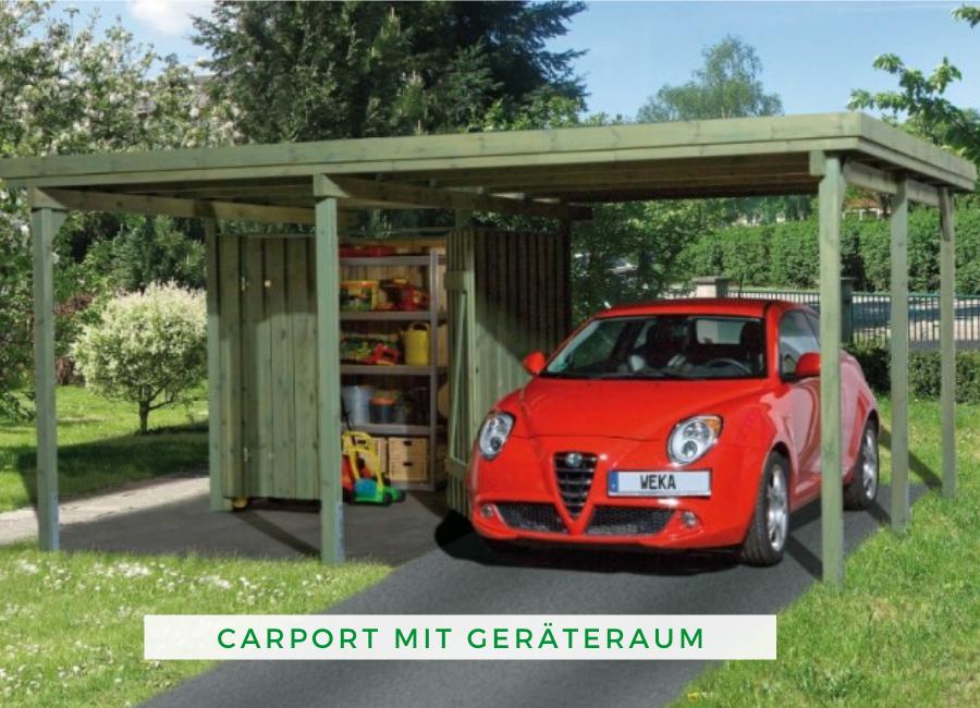 Weka Carport 607 Gr 1 Inkl Gerateraum In 2020 Weka Carport Carport Mit Schuppen Carport