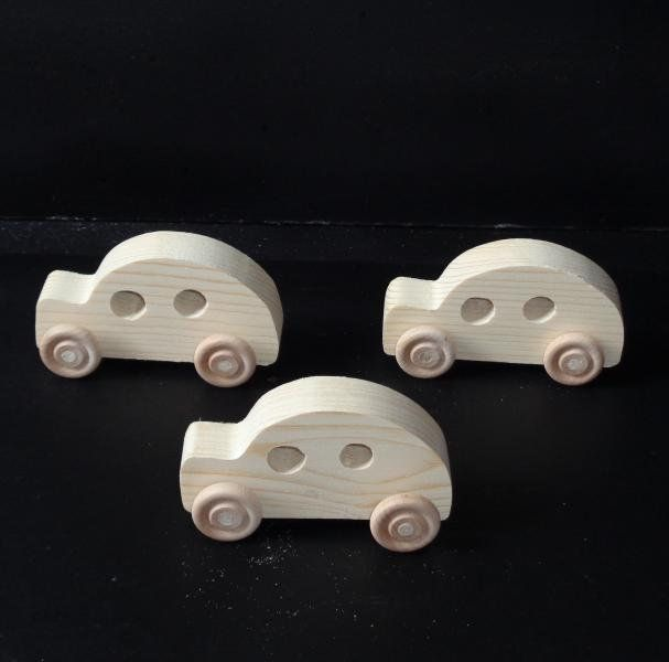 Pkg Of 3 Handcrafted Wood Toy Cars (Bug) 6AH-U-3