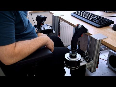 Joystick Hotas Table Mount Introduction With Thrustmaster Warthog Youtube Joystick Flight Simulator Computer Set