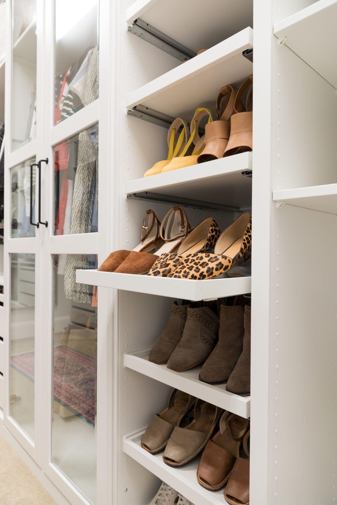 Walkin Closet Makeover with IKEA PAX Closet shoe