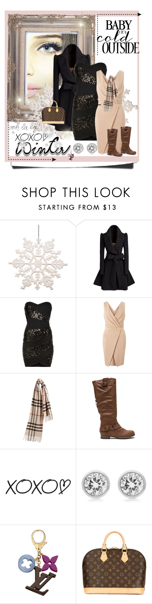 """""""Baby It's Cold Outside"""" by fashionablesam ❤ liked on Polyvore featuring Chi Chi, Miss Selfridge, Burberry, Michael Kors, Louis Vuitton, women's clothing, women's fashion, women, female and woman"""