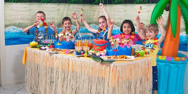 Kids Beach Birthday Party Hawaiian birthday Birthdays and Beach