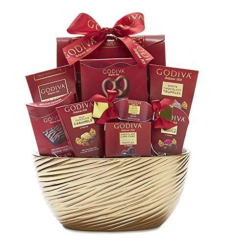 Godiva Gold Wishes Ceramic Bowl and Chocolate Truffle Gift Basket