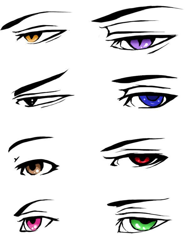 How To Draw Male Anime Eyes : anime, Daryite, DeviantArt, Anime, Drawing,, Eyes,