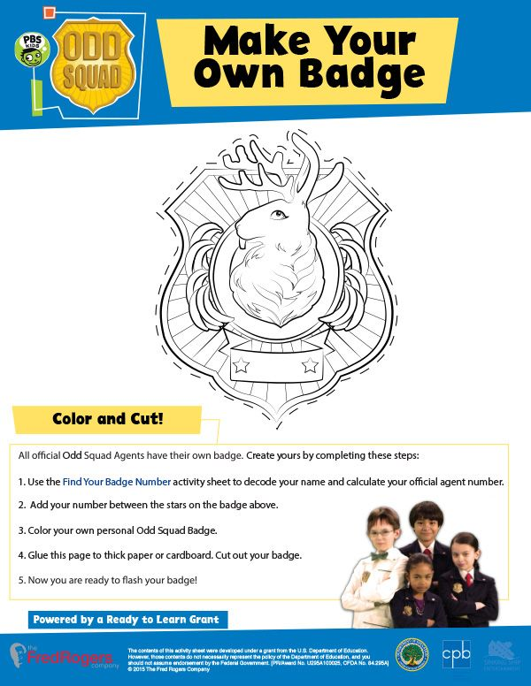 image relating to Odd Squad Badge Printable named Create Your Personalized Badge Rely down in the direction of Sweet within 2019 Spy