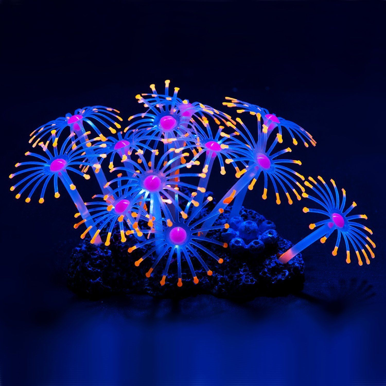 Glowing Effect Artificial Coral Plant for Fish Tank Decorative