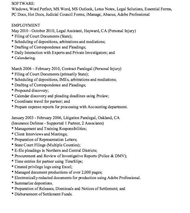 Reference Resume Example Personal Injury Resume Example  Httpresumesdesignpersonal