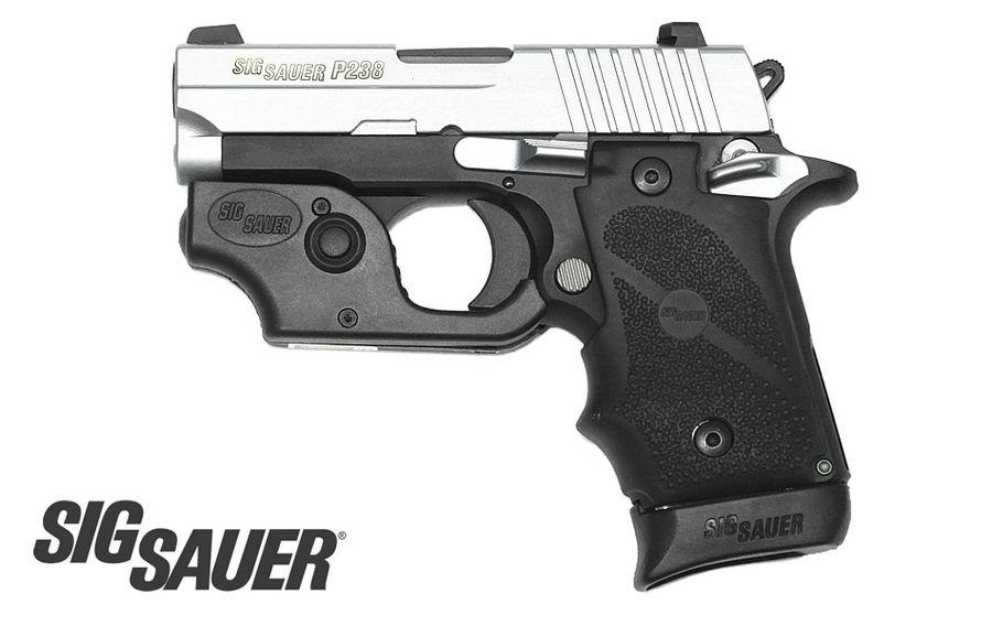 Sig Sauer P238 380ACP Two-Tone w/ Laser, Hogue Grip