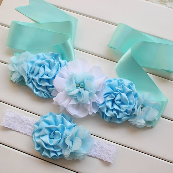 It's A Boy Maternity Sash Gender Reveal Party Bun In The