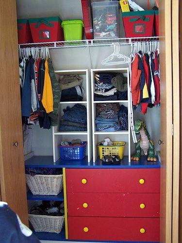 Kidsu0027 Closet; Exposed Closet; Bureau Set In; Like The Board That